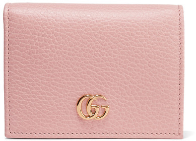 Gucci Gucci - Textured-leather Wallet - Pastel pink