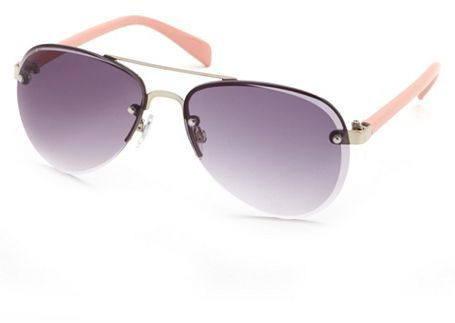 Charlotte Russe Colored Rimless Aviators