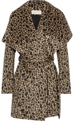 MICHAEL Michael Kors - Leopard-print Faux Fur Wrap Coat - Leopard print $475 thestylecure.com