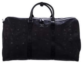MCM Leather-Trimmed Visetos Weekender