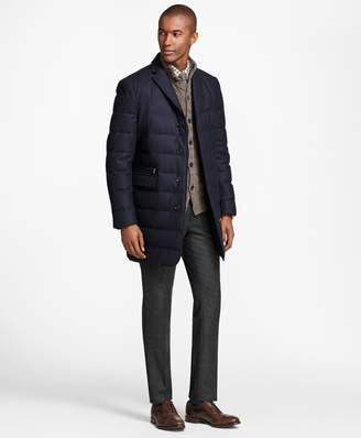 Brooks Brothers Technical Wool Down-Filled Trench