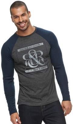 Rock & Republic Men's Graphic Raglan Thermal Tee