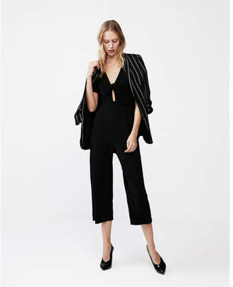 Express tie-front wide leg jumpsuit