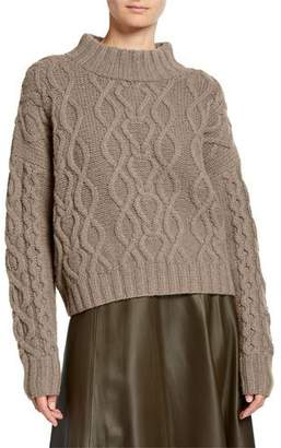 Co Wool-Cashmere Chunky Cable Knit Sweater