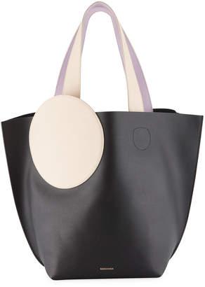 Roksanda Eider Colorblock Leather Tote Bag