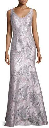 Theia Sleeveless Printed Mermaid Gown $995 thestylecure.com