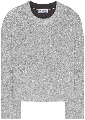 Balenciaga Lame knitted sweater