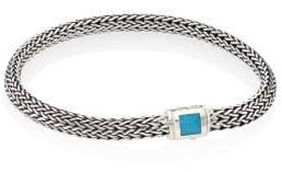 John Hardy Classic Chain Extra Small Turquoise& Sterling Silver Bracelet