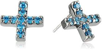 """Nicole Miller Artelier"""" Pave Cross Stud Earrings"""