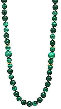 Nest Women's Malachite Beaded Long Strand Necklace