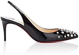 Christian Louboutin Women's Drama Sling Patent Leather Pumps - Black, Silver