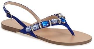 Women's Menbur 'Urbain' Crystal Embellished Thong Sandal $111.95 thestylecure.com