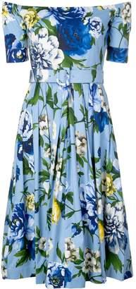 Samantha Sung Florance floral off-shoulder dress