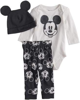 Disneyjumping Beans Disney's Mickey Mouse Baby Graphic Bodysuit, Print Pants & Hat Set by Jumping Beans