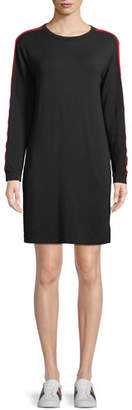 Velvet Breck Crewneck Side-Stripe Shirt Dress