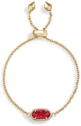 Kendra Scott Elaina Adjustable Chain Bracelet in Berry Glass