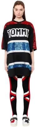 Tommy Hilfiger Tommy Tiger Sequined Oversized Knit Dress