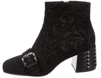 Ash Embellished Ankle Boots