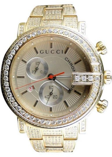 gucci ya101312 fully iced out 14 ct diamond gold mens watch gucci ya101312 fully iced out 14 ct diamond gold mens watch shopstyle