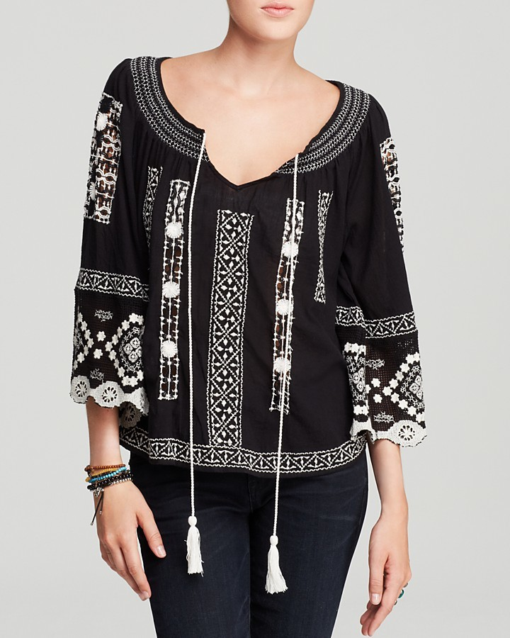 Free People Top - Silver Springs Swing