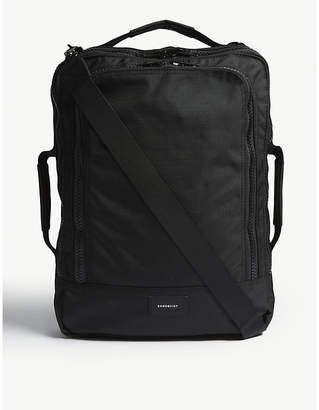 SANDQVIST Black Tyre Four Way Canvas Backpack