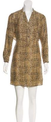 Mara Hoffman Animal Print Silk Dress