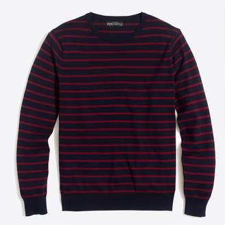J.Crew Factory Cotton jersey crewneck sweater in stripe