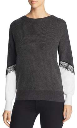 Vero Moda Smilla Lace Trim Color Block Sweater