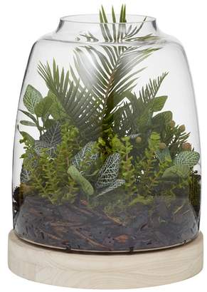 Rogue Faux Bush Mix & Glass Hampton Vase