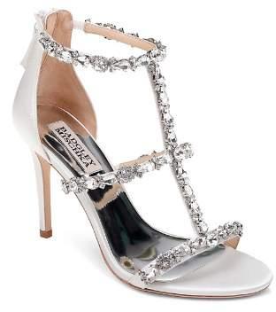 Badgley Mischka Women's Querida Embellished Metallic Satin High-Heel Sandals