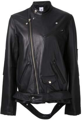 Miharayasuhiro loose fit biker jacket