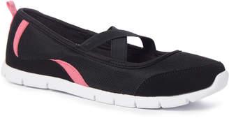 Tu Clothing Sole Comfort Black Flexi Strap Shoes