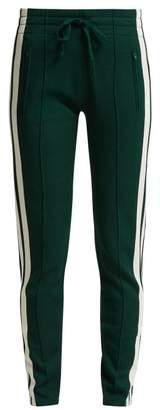 Etoile Isabel Marant Dario Striped Jersey Track Pants - Womens - Green