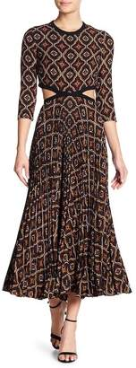 A.L.C. Holly Cutout Silk Blend Maxi Dress