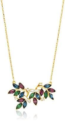 Swarovski Ben-Amun Jewelry Maharaji Crystal Floral Marquise Cut Pendant Gold Necklace