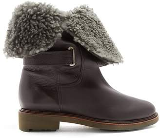 CLERGERIE Jard shearling-lined leather boots