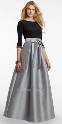 Camille La Vie Beaded Tie Front Evening Dress $160 thestylecure.com