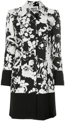 Fausto Puglisi floral patterned coat