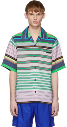 Prada Multicolor Striped Short Sleeve Shirt