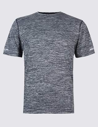 Marks and Spencer Active Slim Fit Textured Crew Neck T-Shirt