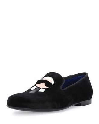 Fendi Karlito Formal Evening Slipper, Black $1,100 thestylecure.com