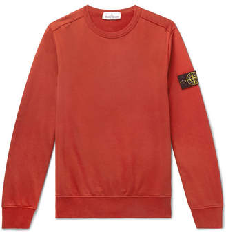 Stone Island Logo-Appliqued Loopback Cotton-Jersey Sweatshirt