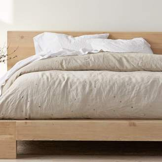 Coyuchi Organic Cotton Scattered Embroidered Linen Duvet Cover, King