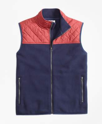 Brooks Brothers Quilted-Yoke Polar Fleece Vest