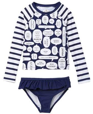 c6e7073f6 Kate Spade speech bubble rash guard set (Toddler & Little Girls)
