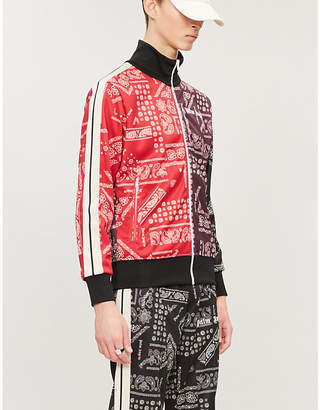 Palm Angels Bandana-print stretch-jersey jacket