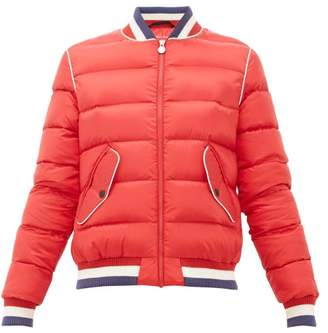 Perfect Moment Striped Quilted Down Bomber Jacket - Womens - Red