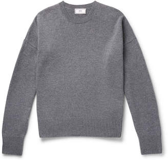 Oversized Mélange Merino Wool and Cashmere-Blend Sweater