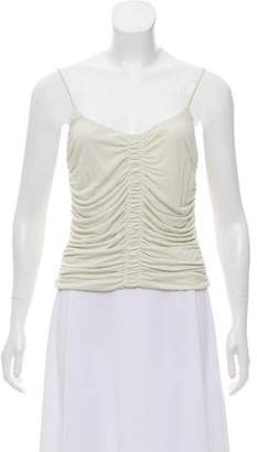 Giorgio Armani Sleeveless Ruched Top