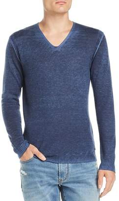John Varvatos Faded V-Neck Pullover Sweater